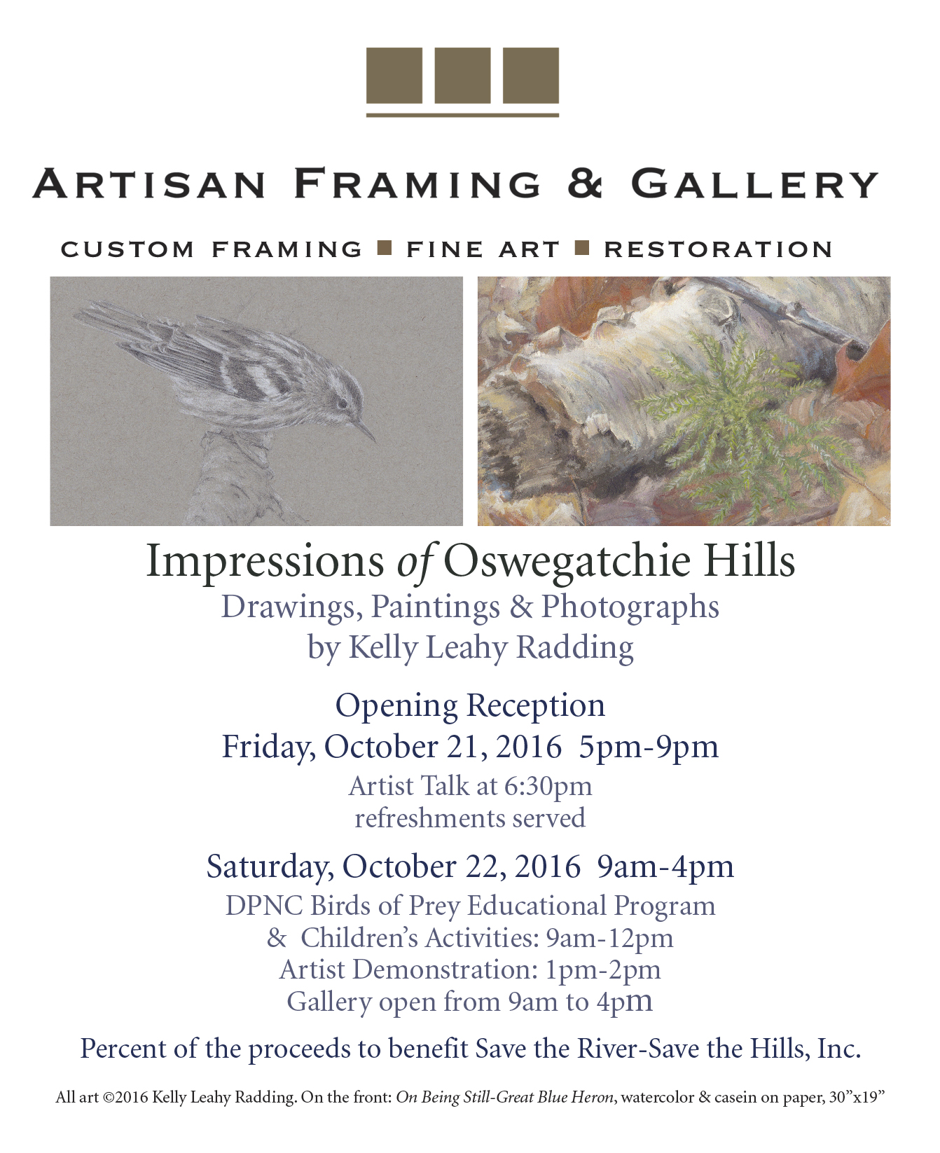 Impressions of Oswegatchie Hills - Artisan Framing & Gallery